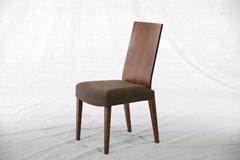 胡桃木 实木布艺餐椅 实木家具