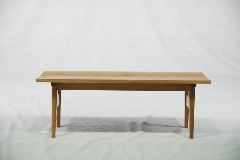 橡木 實木長椅 實木傢具 1