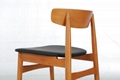 Beech Solid Wood Dining Chair (Dining Room) 4