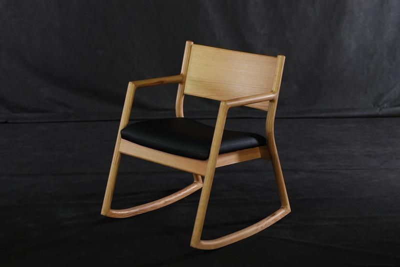 Beau OAK Solid Wood Rocking Chair 1 ...