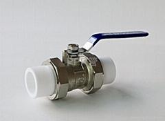 供應PPR管件-銅活接球閥