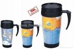 Advertising Paper Insert Plastic Mug