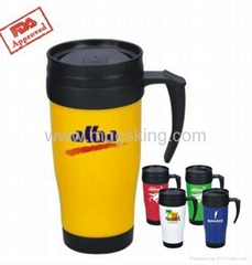 Promotion Plastic double wall travel mugs/cup