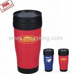 plastic thermo mugs
