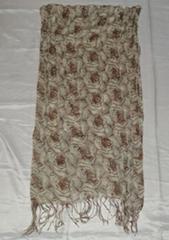 外贸人棉印花玫瑰围巾