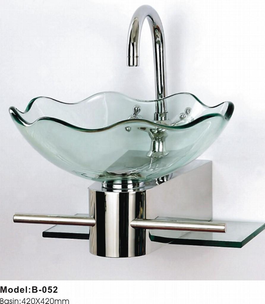Glass wash basin - TB-052 (China Manufacturer) - Bathroom Furniture ...