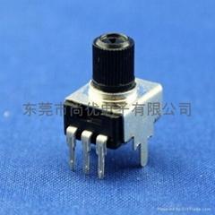 拾音器效果器用单联旋转9MM-B2K音量电位器