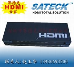 供應1080P高清3D HDMI分配器1乘8