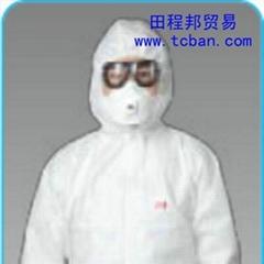 3M 4620白色帶帽連體防護服