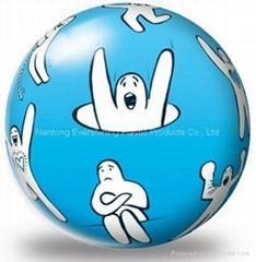 单色印刷玩具球