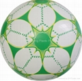 double color printed PVC ball