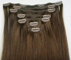straight hair, clips hair extension