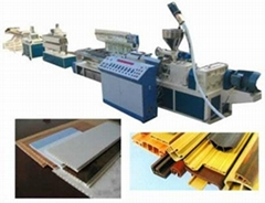 pvc doors and windows profile extrusion production line