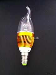 3w LED 蜡烛灯