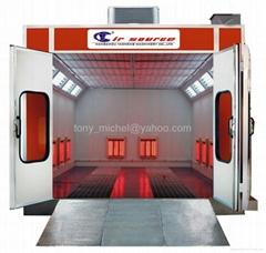 Infrared heat spray booth