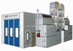 Medium-sized bus spray booth