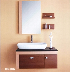 2011 new style solid wood bathroom cabinet vanity
