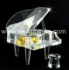 crystal music box crystal piano