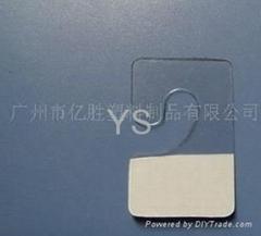 PET透明J式塗膠背膠自膠貼挂勾