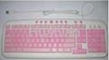多媒体彩色键盘,有线键盘,外贸