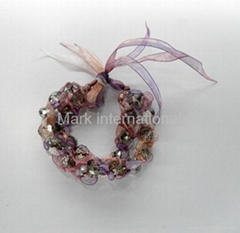 fashion crystal fabric bracelet