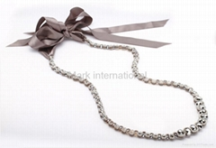 Fashion jewelry Fabric Crystal necklace-Jewelry