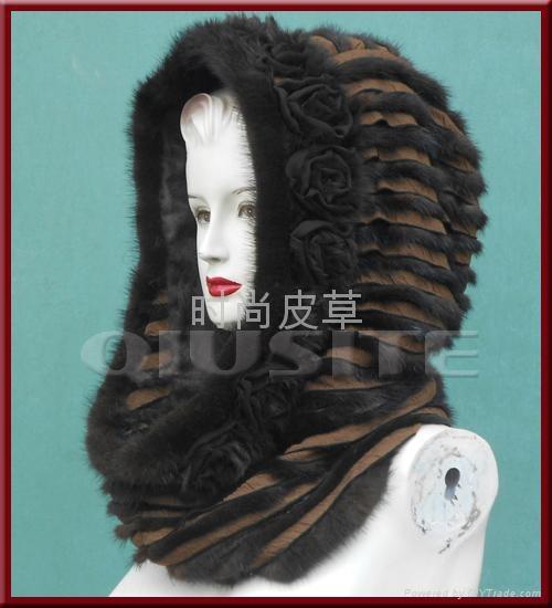 機縫脖套帽 1