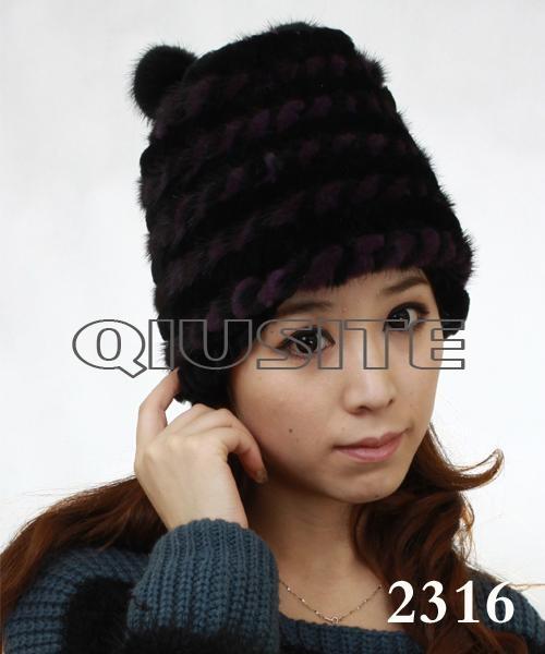 水貂編織女士帽 2