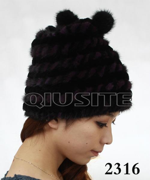 水貂編織女士帽 4