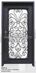 wrought iron entry door(HT207A)