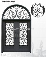 custom wrought iron door(HT-206C)