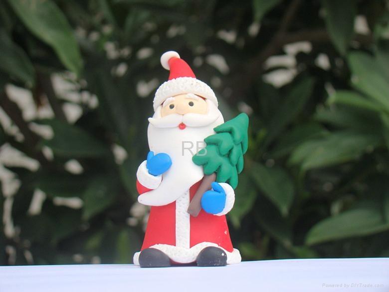 Santa Claus Polymer Clay Christmas Ornaments Rb0050 Rb