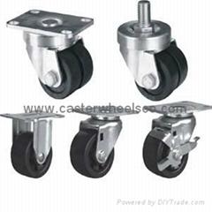low profile casters wheels
