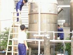 工業軟化水處理設備安裝現場
