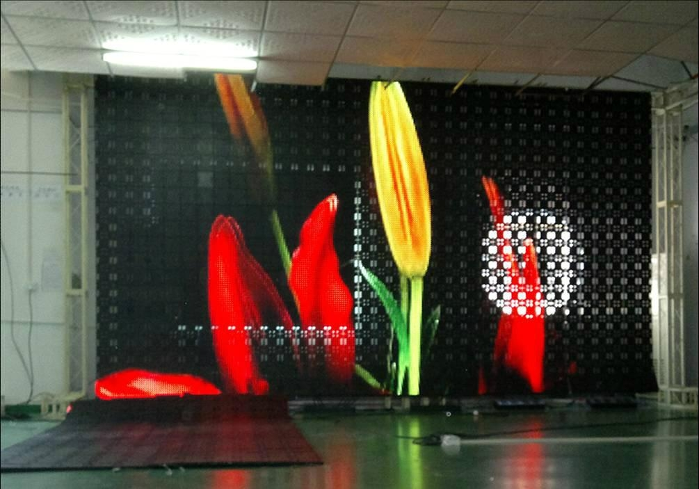 flexible and transparent and mobile led display screen 1