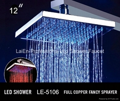 No battery Shower Heads Shower Led Led Shower head light Led Rainfall Shower