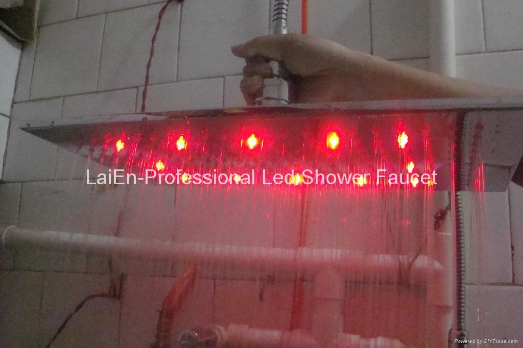 No battery Shower Heads Shower Led Led Shower head light Led Rainfall Shower 4