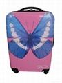 廣州蝴蝶絲印硬質行李箱
