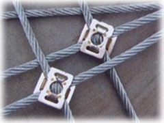 钢丝绳边坡防护网