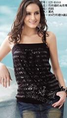 竹纤维女士时尚小衫