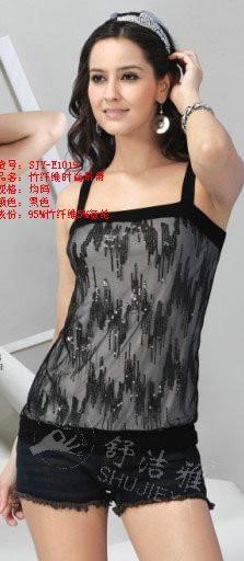 竹纖維女士時尚弔帶小衫 1
