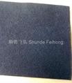 Fibrous activated carbon filter vinyl