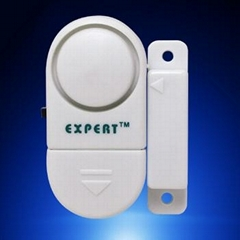 Battery-operated door or window entry alarm
