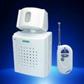 Remote control infarared alarm/door