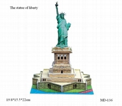 3D puzzle game-The statue of liberty (MD-136)