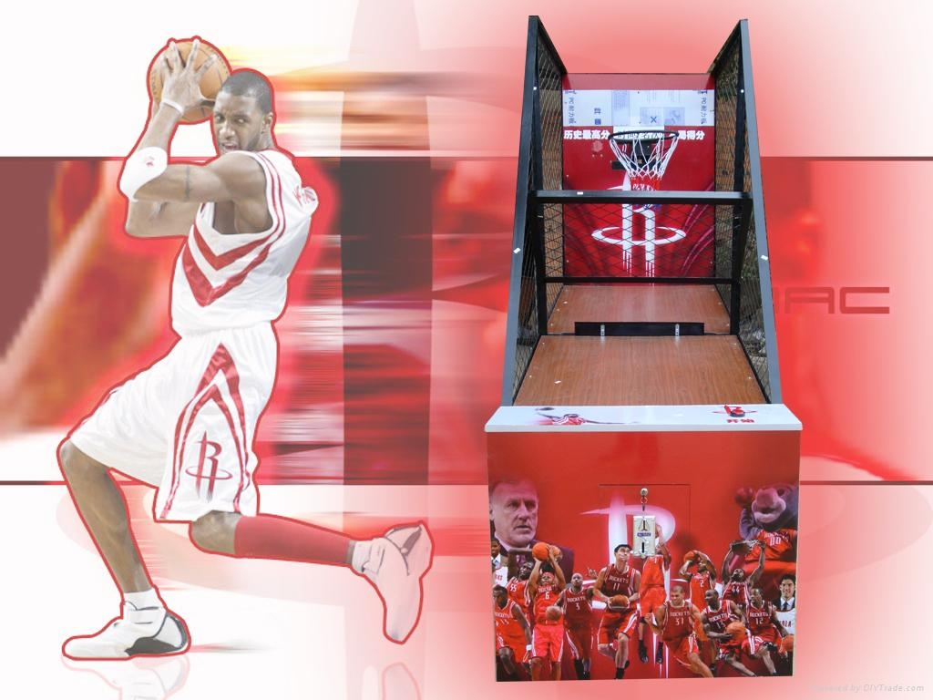 火箭球迷篮球机  1