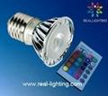 3W led 全彩射燈 帶遙控 3