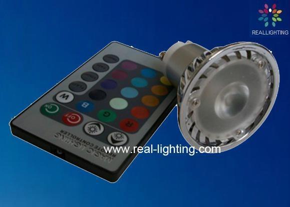 3W led 全彩射燈 帶遙控 4