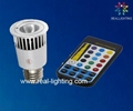 5W RGB led spot lamp with remote controll 1