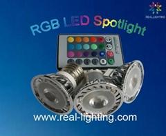 RGB full color 3W led spot downlight celling GU10 E27 MR16 led bulb home led